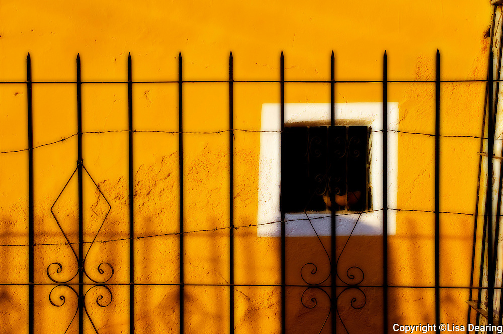 Iron Fence and Window, Guanajuato, Mexico