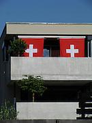 Swiss symbols: white cross on red ground. Schweizerische Identität und ihr Repräsentationssymbol par excellence: das Schweizer Kreuz. L'identité suisse et ses symboles: drapeau, croix blanche sur fond rouge. © Romano P. Riedo