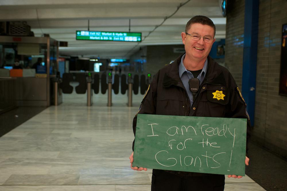 Larry Nichol, Transit Fare Inspector | I am ready for the Giants! | I am Muni.