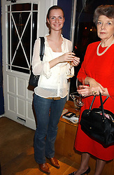 MISS CHLOE DELEVINGNE at a private view sculptures, drawings and Maquettes by Aly Brown held at Lucy B Campbell Fine Art, 123 Kensington Church Street, London W8 on 22nd November 2005.<br />
