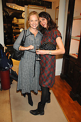 Left to right, MARIELLA FROSTRUP and actress GINA BELLMAN at a party to celebrate the launch of the book 'Long Way Down' by Ewan McGregor and Charley Boorman held at Smythson, 40 New Bond Street, London W1 on 19th November 2007,<br /><br />NON EXCLUSIVE - WORLD RIGHTS