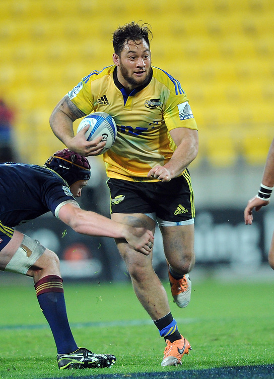 Hurricanes' Jack Lam against the Highlanders in the Super Rugby match at Westpac Stadium, Wellington, New Zealand, Friday, May 16, 2014. Credit:SNPA / Ross Setford
