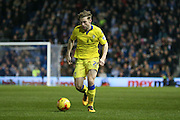 Leeds United defender, Charlie Taylor (21)  during the Sky Bet Championship match between Brighton and Hove Albion and Leeds United at the American Express Community Stadium, Brighton and Hove, England on 29 February 2016. Photo by Simon Davies.