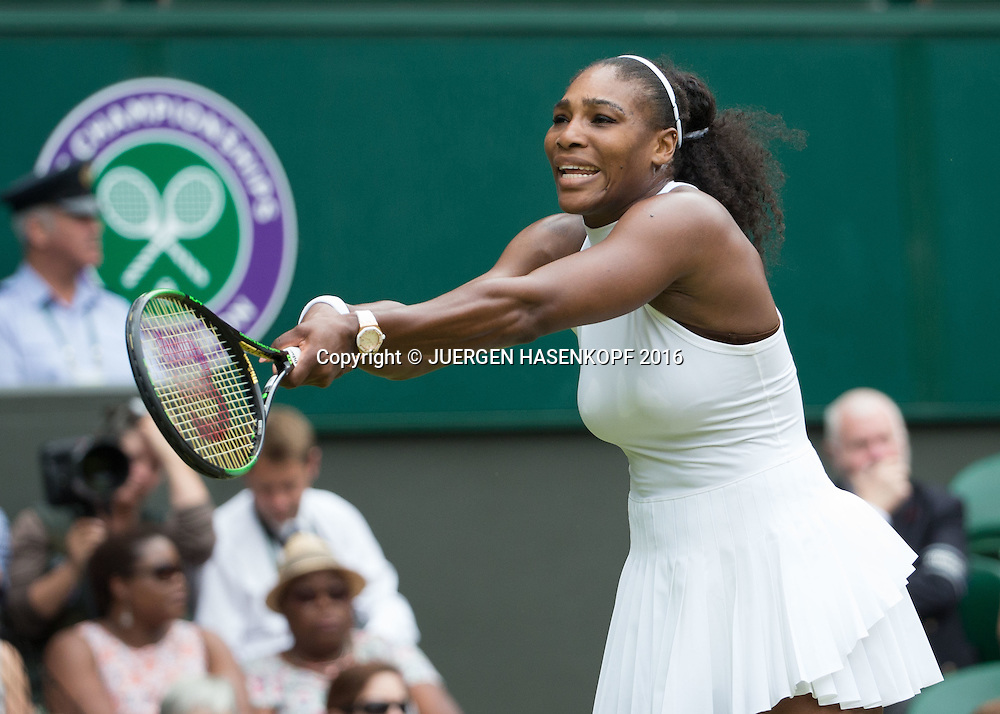 SERENA WILLIAMS (USA) aergert sich ueber einen verschlagenen Return, Damen Endspiel, Finale <br /> <br /> Tennis - Wimbledon 2016 - Grand Slam ITF / ATP / WTA -  AELTC - London -  - Great Britain  - 9 July 2016.