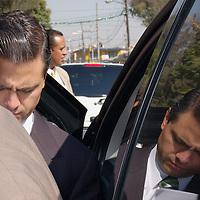 Ecatepec, Mex.- Enrique Peña Nieto, gobernador del Estado de Mexico a su llegada a la ceremonia conmemorativa de 191 aniversario del fusilamiento de Jose Maria Morelos y Pavon. Agencia MVT / Omar Lopez Robles. (DIGITAL)<br /> <br /> <br /> <br /> <br /> <br /> <br /> <br /> NO ARCHIVAR - NO ARCHIVE