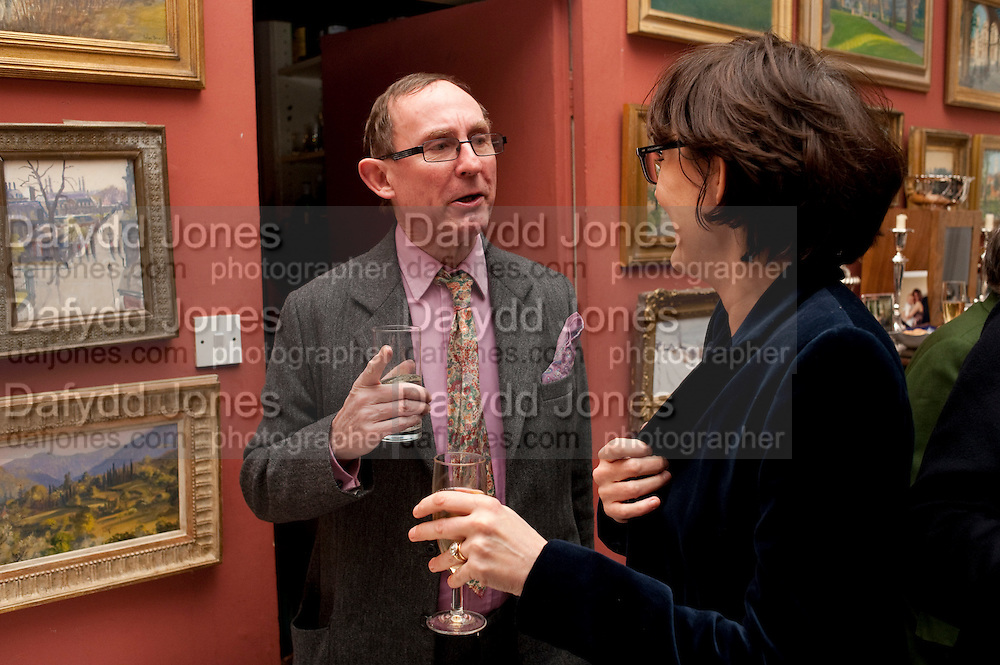 A.N. WILSON, Party to celebrate the publication of Animal Magic by Andrew Barrow. Tite St. London. 28 February 2011.  -DO NOT ARCHIVE-© Copyright Photograph by Dafydd Jones. 248 Clapham Rd. London SW9 0PZ. Tel 0207 820 0771. www.dafjones.com.
