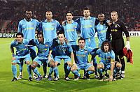 Fotball<br /> Spania<br /> Foto: imago/Digitalsport<br /> NORWAY ONLY<br /> <br /> 01.10.2008  <br /> <br /> Mannschaftsbild FC Barcelona, hi.v.li.: Yaya Toure, Thierry Henry, Rafael Marquez, Gerard Pique, Samuel Etoo, Torwart Victor Valdes; vorn: Daniel Alves, Seydou Keita, Andres Iniesta, Xavi Hernandez, Carles Puyol, Eto o<br /> <br /> Lagbilde Barcelona