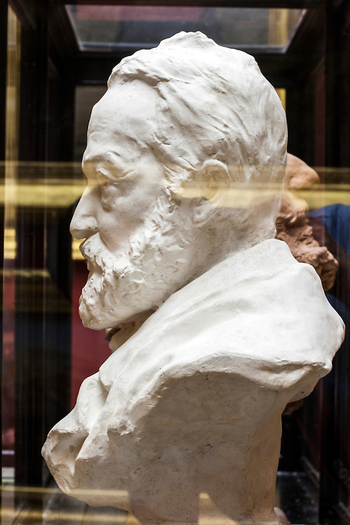Sculpture of Jean Jaures head in permanent collection of Granet museum in Aix-en-Provence, France.