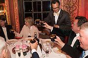 ZARA GORDON LENNOX; VADIM GRIGORIAN; ROBERT WILSON; MARTIN RILEY, Perdurity: A Moving Banquet of Time. Royal Salute curates a timeless evening at Hampton Court Palace with Marcos Lutyens, 2 June 2015.