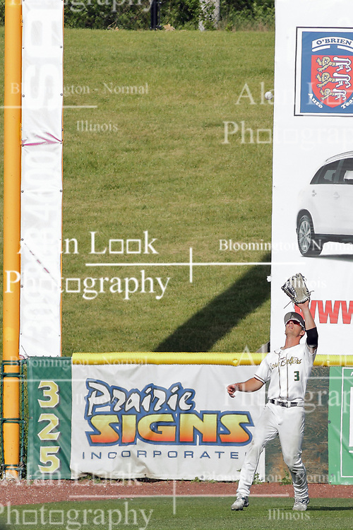 28 May 2017: Ty Morris during a Frontier League Baseball game between the Lake Erie Crushers and the Normal CornBelters at Corn Crib Stadium on the campus of Heartland Community College in Normal Illinois
