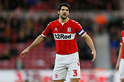 Middlesbrough defender George Friend (3)  during the EFL Sky Bet Championship match between Middlesbrough and Ipswich Town at the Riverside Stadium, Middlesbrough, England on 29 December 2018.