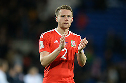 Chris Gunter of Wales claps the home fans at full time. - Mandatory by-line: Alex James/JMP - 12/11/2016 - FOOTBALL - Cardiff City Stadium - Cardiff, United Kingdom - Wales v Serbia - FIFA European World Cup Qualifiers
