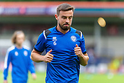 Rochdale Eoghan O'Connell warms up before the EFL Sky Bet League 1 match between Rochdale and Sunderland at the Crown Oil Arena, Rochdale, England on 20 August 2019.