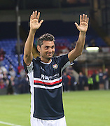 Juan Sara salutes the traveling support - Crystal Palace v Dundee - Julian Speroni testimonial match at Selhurst Park<br /> <br />  - © David Young - www.davidyoungphoto.co.uk - email: davidyoungphoto@gmail.com