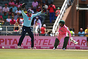 Jonny Bairstow (WK) claims an LBW of Temba Bavuma  during the One Day International match between South Africa and England at Bidvest Wanderers Stadium, Johannesburg, South Africa on 9 February 2020.