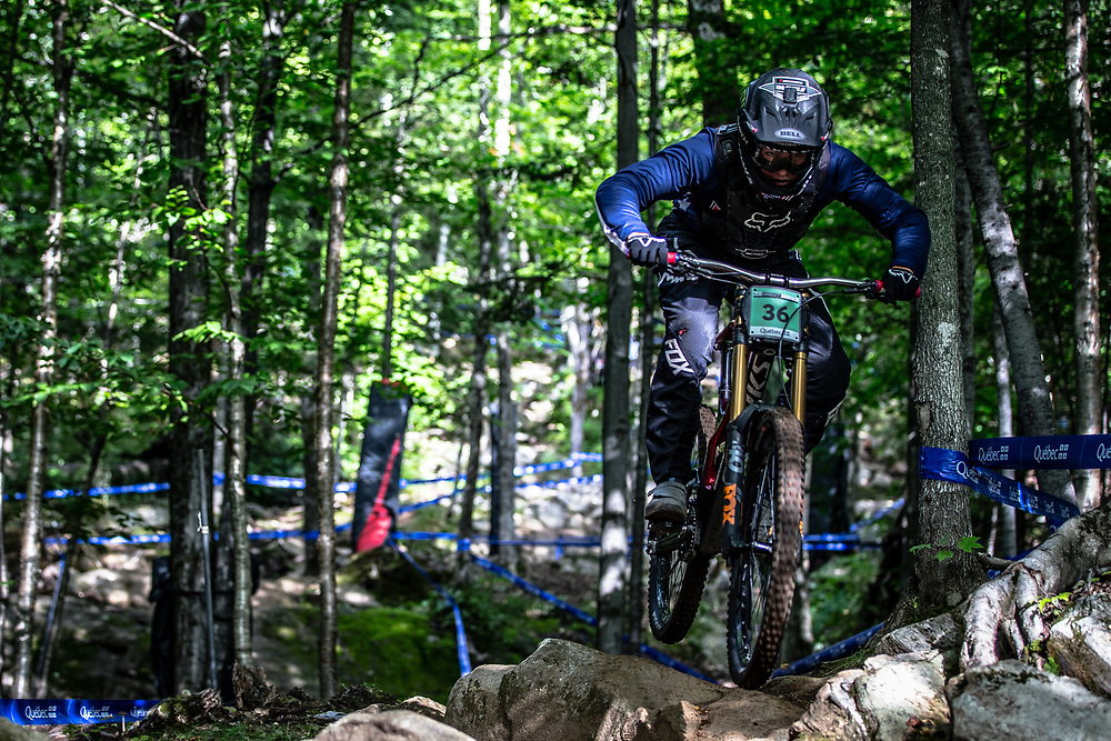 SUETOS Cole (USA) at the Mountain Bike World Championships in Mont-Sainte-Anne, Canada.