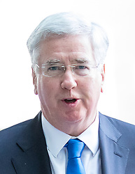 © Licensed to London News Pictures. 02/04/2017. London, UK. Defence Secretary Michael Fallon arriving at BBC Broadcasting House to appear on The Andrew Marr Show this morning. Photo credit : Tom Nicholson/LNP