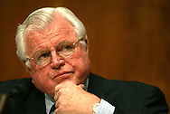 A 11.6 MG IMAGE OF:.Senator Ted Kennedy during a Seante Hearing on SARS, Photo by Dennis Brack