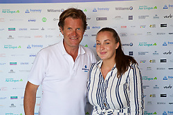 LIVERPOOL, ENGLAND - Sunday, June 24, 2018: Tournament director Anders Borg with Alexandra Borg during day four of the Williams BMW Liverpool International Tennis Tournament 2018 at Aigburth Cricket Club. (Pic by Paul Greenwood/Propaganda)