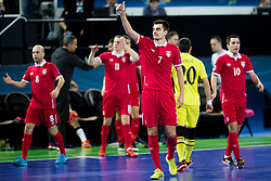 Players of team Serbia during futsal match between Serbia and Italy at Day 3 of UEFA Futsal EURO 2018, on February 1, 2018 in Arena Stozice, Ljubljana, Slovenia. Photo by Urban Urbanc / Sportida
