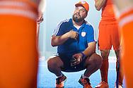 BHUBANESWAR  (INDIA)  -   Champions Trophy Hockey.  Netherlands vs Germany (4-1).  Dutch coach Max Caldas .