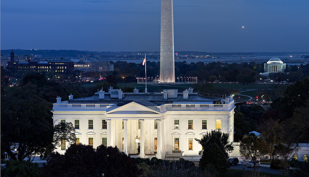 White House, evening view