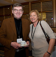 Dr. Edward  Harty Leitirmor, and Dr. Fionnuala Lysaght, NUI,Galway at Rheumatology Toolbox : Rheumatology for General Practice Conference at the Radisson Blu Hotel , Galway. Photo:Andrew Downes