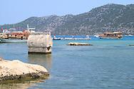 A Lycian tomb in the sea near Kalekoy<br /> Turkey<br /> c. Ellen Rooney