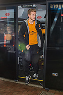 Greg Olley of Hull City arrives at Ewood Park, Blackburn ahead of during the FA Cup match between Blackburn Rovers and Hull City<br /> Picture by Matt Wilkinson/Focus Images Ltd 07814 960751<br /> 06/01/2018