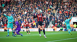 BOURNEMOUTH, ENGLAND - Sunday, November 25, 2018: AFC Bournemouth's David Brooks celebrates scoring a goal, but it was disallowed for off-side, during the FA Premier League match between AFC Bournemouth and Arsenal FC at the Vitality Stadium. (Pic by David Rawcliffe/Propaganda)