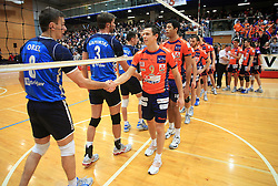 Igor Orel and Matija Plesko at finals of Slovenian volleyball cup between OK ACH Volley and OK Salonit Anhovo Kanal, on December 27, 2008, in Nova Gorica, Slovenia. ACH Volley won 3:2.(Photo by Vid Ponikvar / SportIda).