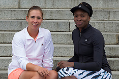 Auckland - Tennis - Venus Williams hits out with Marina Erakovic