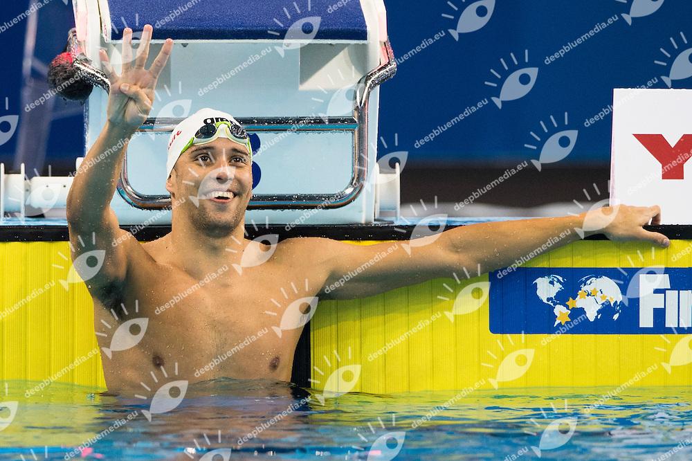 LE CLOS Chad RSA Gold Medal CR<br /> Men's Butterfly 200m Final<br /> Doha Qatar 07-12-2014 Hamad Aquatic Centre, 12th FINA World Swimming Championships (25m). Nuoto Campionati mondiali di nuoto in vasca corta.<br /> Photo Giorgio Scala/Deepbluemedia/Insidefoto