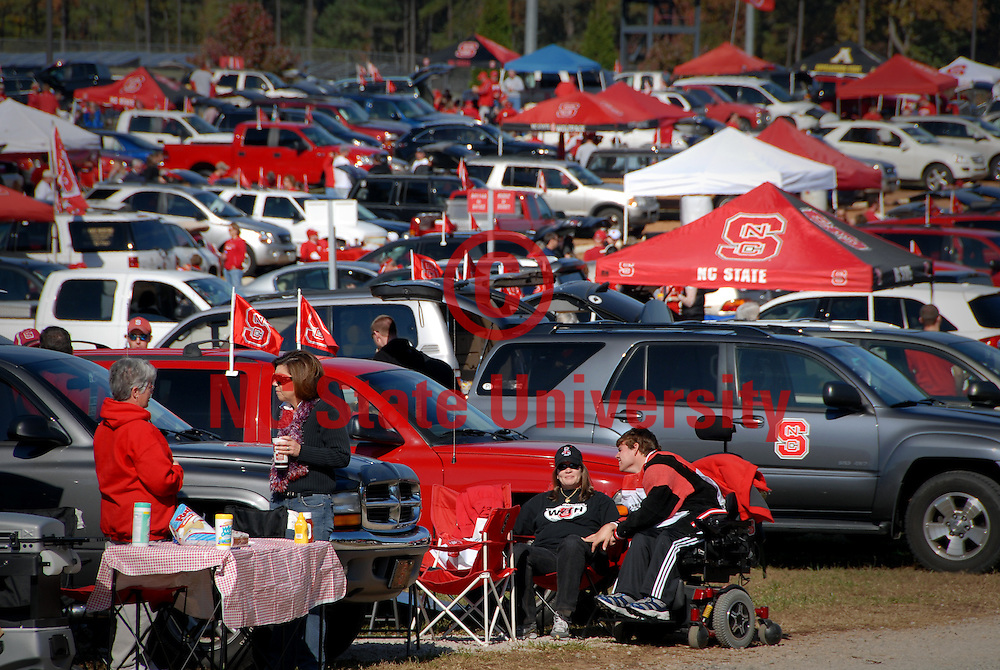 Tailgating before a home football game. PHOTO BY ROGER WINSTEAD