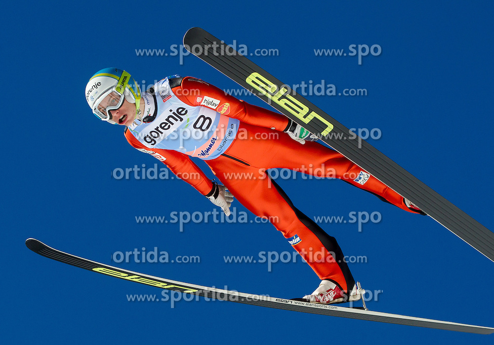Andraz Pograjc of Slovenia during the Flying Hill Individual Qualification at 1st day of FIS Ski Jumping World Cup Finals Planica 2013, on March 21, 2012, in Planica, Slovenia. (Photo by Vid Ponikvar / Sportida.com)