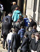 Feb. 7, 2014 - New York, New York, U.S. - <br /> <br /> Mourners attend the funeral for actor Philip Seymour Hoffman arriving to St. Ignatius Loyola Church on the Upper East Side. Hoffman died of a suspected heroin overdose on February 2. <br /> ©exclusivepix