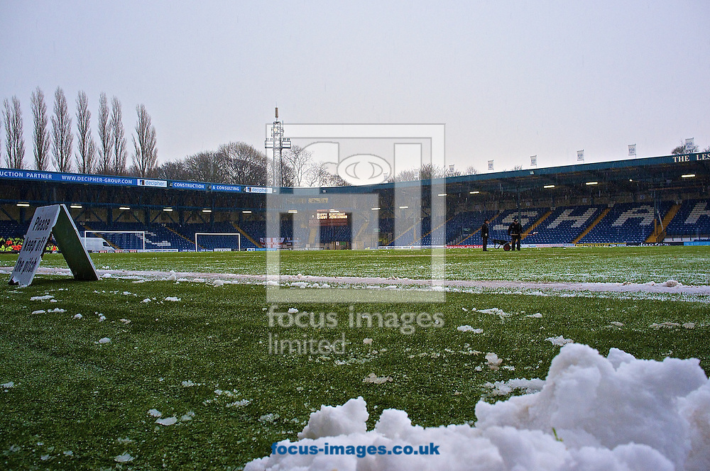 General view of the stadium pictured ahead of the Sky Bet League 2 match at Gigg Lane, Bury<br /> Picture by Ian Wadkins/Focus Images Ltd +44 7877 568959<br /> 17/01/2015