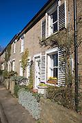 Historic terraced housing, St John's Terrace, Woodbridge, Suffolk, England