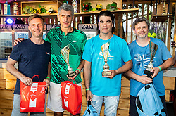 Tone Komar, Marko Lopatic, Bor Zuljan and Hari Strukelj at Trophy ceremony of RVO at Day 10 of ATP Challenger Zavarovalnica Sava Slovenia Open 2019, on August 18, 2019 in Sports centre, Portoroz/Portorose, Slovenia. Photo by Vid Ponikvar / Sportida
