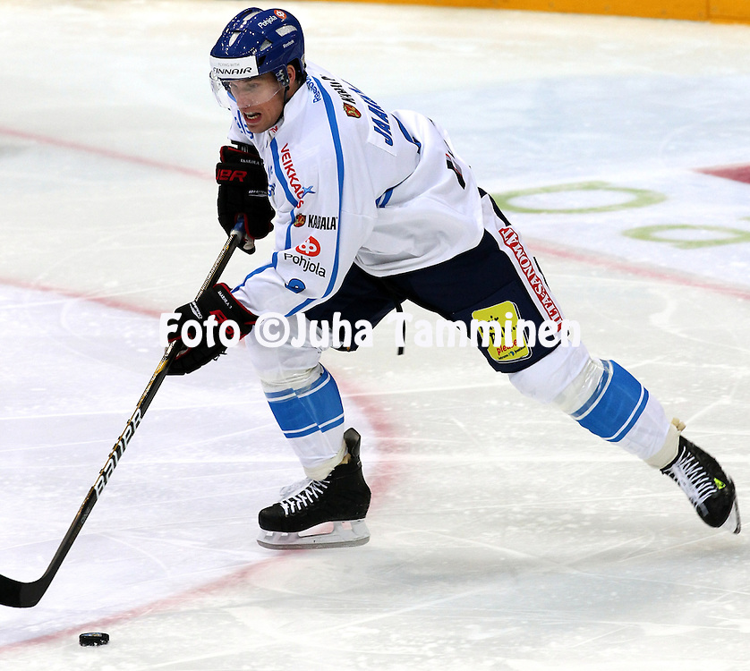 10.11.2011, Hartwall-Areena, Helsinki, Finland..Euro Hockey Tour - Karjala-turnaus 2011. Suomi - Venj / Finland v Russia..Topi Jaakola - Suomi..