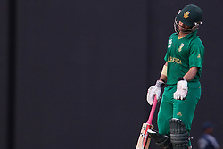 © Licensed to London News Pictures. 28/09/2012. South African Jean-Paul Duminy walks off after getting out for 48 runs during the T20 Cricket World cup match between South Africa Vs Pakistan at the R.Premadasa Cricket Stadium,Colombo. Photo credit : Asanka Brendon Ratnayake/LNP