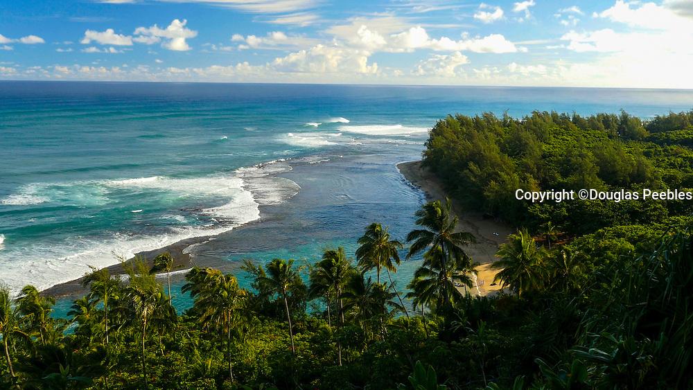 Ke'e Beach, Napali Coast, Haena, State Park, Kauai, Hawaii