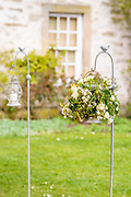 Wedding styling by the tema at Get Knotted, for at wedding held at The Hirsel, the residance of the Earl of Home, in Coldstream. Lindsey Hunter's team made the flower decorations for the tables entrance, staircase and church.