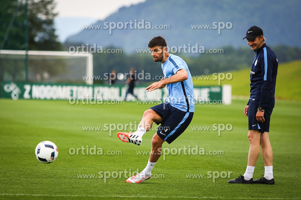 Rok Kronaveter during practice session of Slovenian Football Team practice session of Slovenian National Team before game against Sweden, on May 26, 2016 in Football centre Brdo pri Kranju, Slovenia. Photo by Ziga Zupan / Sportida