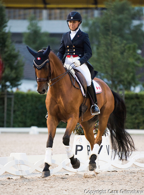 JILL IRVING (CAN) rides Degas 12 in the Grand Prix Freestyle Dressage CDI at CHIO Aachen, Germany July 22 2017