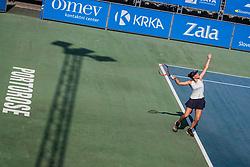 Anali Kocevar during women's senior final of Slovenian championship Zavarovalnica Sava tournament at ATP Challenger Zavarovalnica Sava Slovenia Open 2019, day 2, on August 10th 2019 in Sports centre, Portoroz/Portorose, Slovenia. Photo by Grega Valancic / Sportida