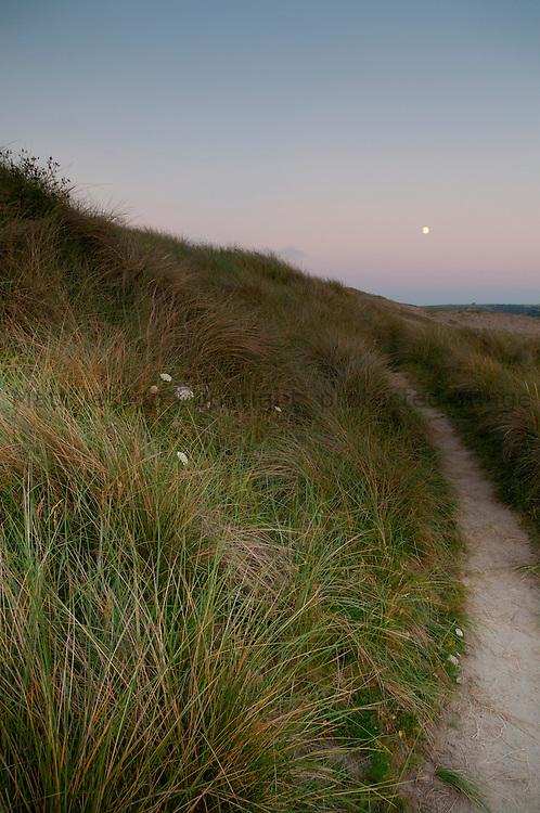 Perranporth moon