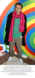 Fashion designer MATTHEW WILLIAMSON, at a party in London on 20th October 2003.PNP 117