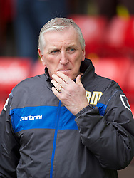 SHEFFIELD, ENGLAND - Saturday, March 17, 2012: Tranmere Rovers' manager Ronnie Moore before the Football League One match against Sheffield United at Bramall Lane. (Pic by David Rawcliffe/Propaganda)