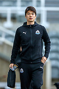 Ki Sung-Yueng (#4) of Newcastle United arrives ahead of the Premier League match between Newcastle United and Watford at St. James's Park, Newcastle, England on 3 November 2018.